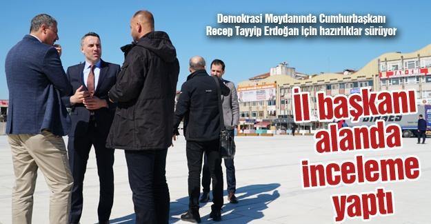 Recep Tayyip Erdoğan için hazırlıklar sürüyor