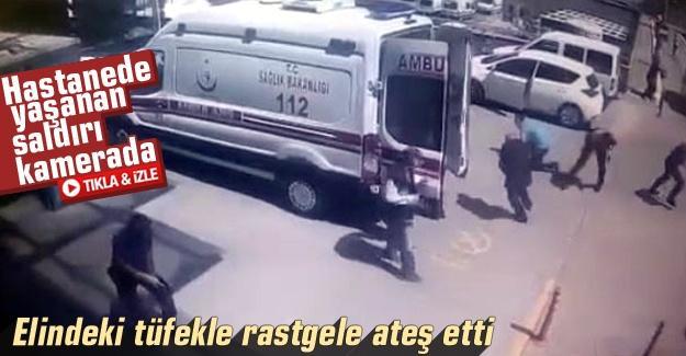 Hastanede yaşanan saldırı kamerada