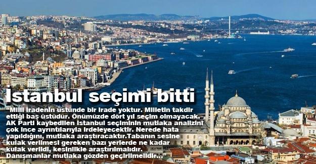 İstanbul seçimi bitti