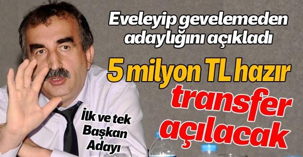 İbrahim Nalbant resmen aday!