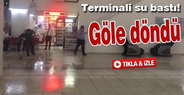 Terminali su bastı!