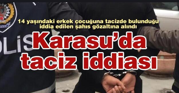 Karasu'da taciz iddiası!
