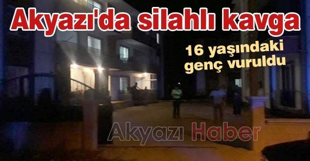 Akyazı'da silahlı kavga! 16 yaşındaki genç vuruldu