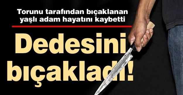 Torunu tarafından bıçaklanan yaşlı adam hayatını kaybetti