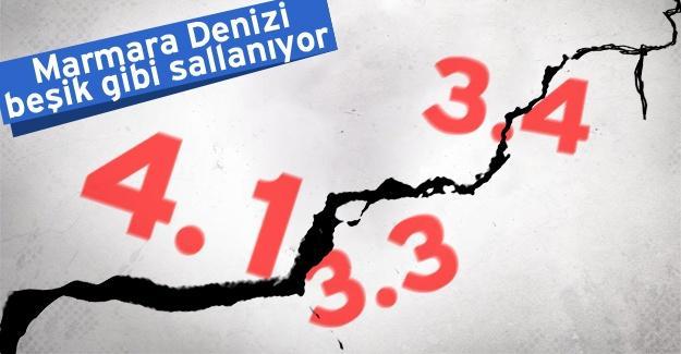 Marmara Denizi beşik gibi sallanıyor!