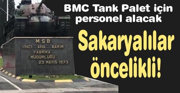 BMC Tank Palet için personel alacak
