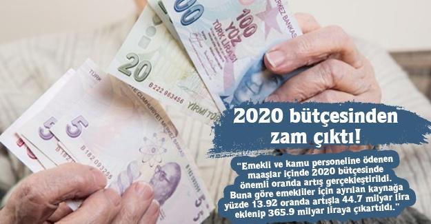 2020 bütçesinden zam çıktı!