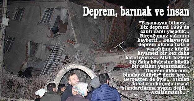 Deprem, barınak ve insan