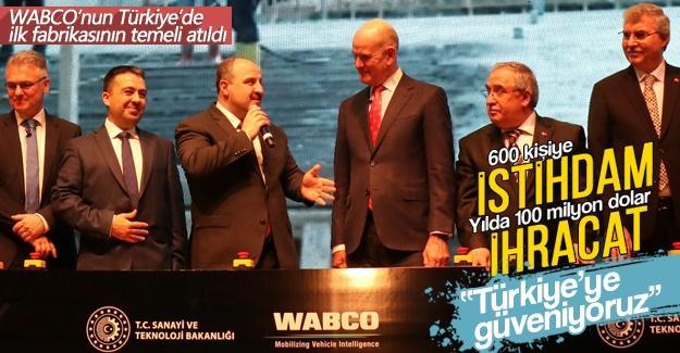 WABCO'nun Türkiye'de ilk fabrikasının temeli atıldı
