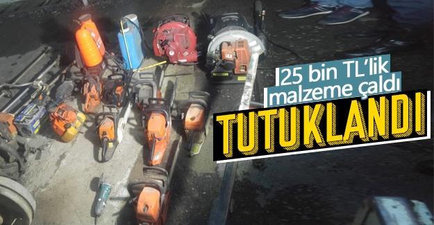 Evin deposundan 25 bin TL'lik malzemeyi çaldı