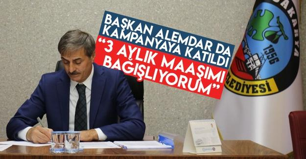 Başkan Alemdar da kampanyaya katıldı