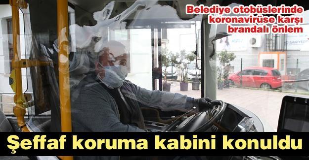 Belediye otobüslerinde koronavirüse karşı önlem