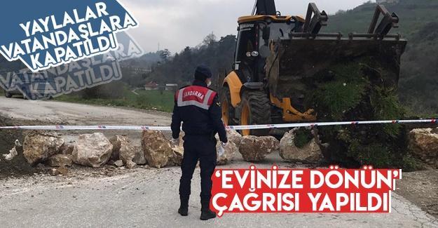 Yaylalar vatandaşlara kapatıldı