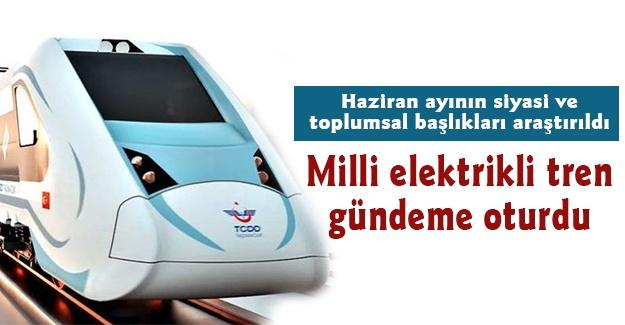 Milli elektrikli tren gündeme oturdu