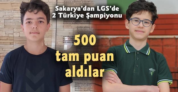 Sakarya'dan LGS'de 2 Türkiye Şampiyonu