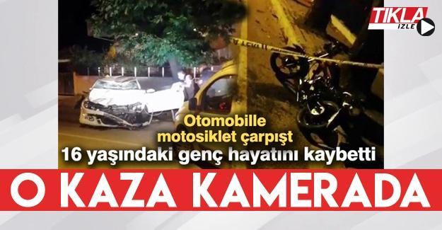 16 yaşındaki gencin hayatını kaybettiği feci kaza kamerada