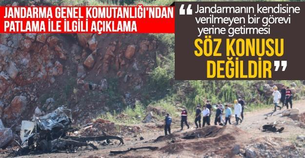 Jandarma Genel Komutanlığı'ndan patlamayla ilgili açıklama