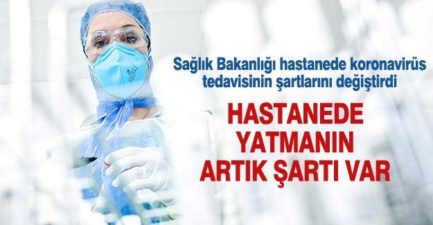 Sağlık Bakanlığı hastanede koronavirüs tedavisinin şartlarını değiştirdi