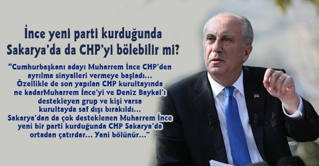İnce yeni parti kurduğunda Sakarya'da da CHP'yi bölebilir mi?