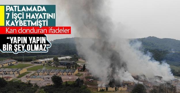 Patlamada 7 işçi hayatını kaybetmişti