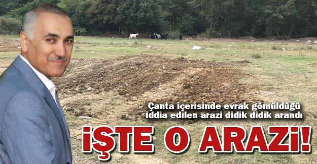 İşte o arazi!
