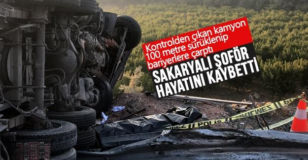 Sakaryalı şoför Bursa'daki kazada hayatını kaybetti