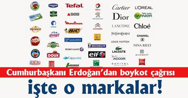 Cumhurbaşkanı Erdoğan'dan boykot çağrısı! İşte o markalar!
