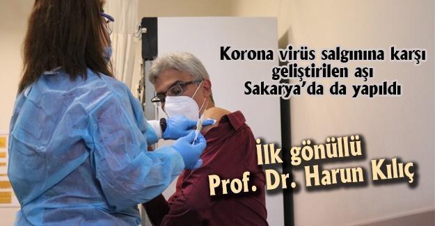 İlk gönüllü Prof. Dr. Harun Kılıç!