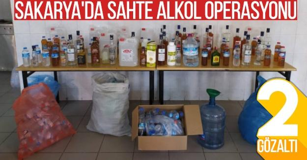 Sakarya'da sahte alkol operasyonu