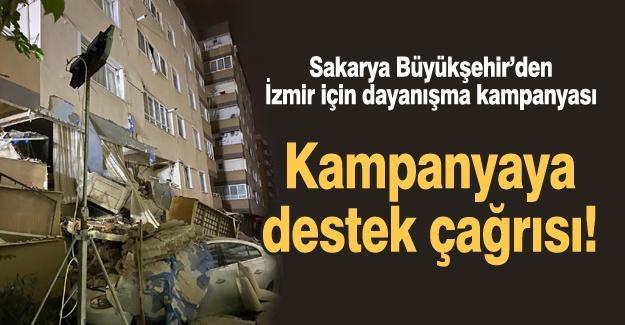 Sakarya Büyükşehir'den İzmir için dayanışma kampanyası