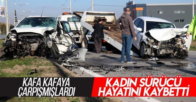 Kadın sürücü hayatını kaybetti