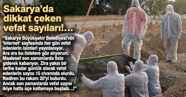 Sakarya'da dikkat çeken vefat sayıları!…