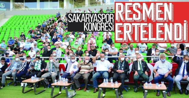 Sakaryaspor kongresi resmen ertelendi!
