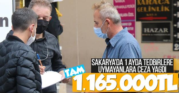 Sakarya'da tedbirlere uymayanlara ceza yağdı