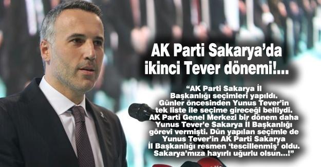 AK Parti Sakarya'da İkinci Tever dönemi!…