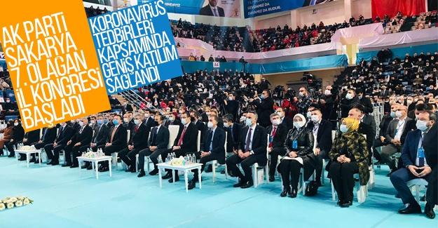 AK Parti Sakarya 7. Olağan İl Kongresi başladı
