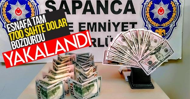 Esnafa sahte dolar bozduran şahıs yakalandı