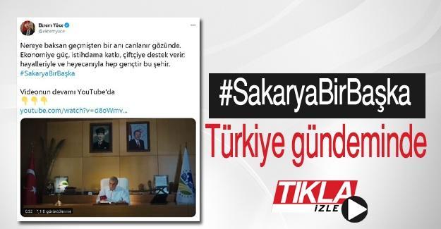 #SakaryaBirBaşka Türkiye gündeminde