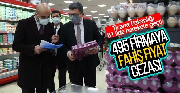 495 firmaya fahiş fiyat cezası