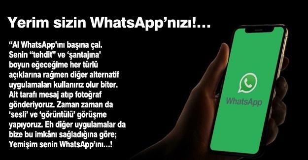 Yerim sizin WhatsApp'nızı!…