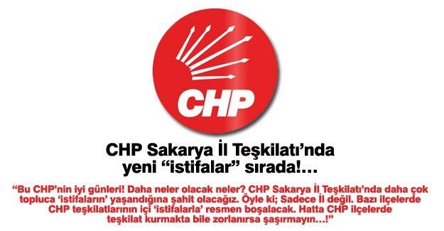 "CHP Sakarya İl Teşkilatı'nda yeni ""istifalar"" sırada!…"