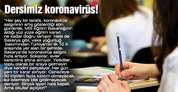Dersimiz koronavirüs!