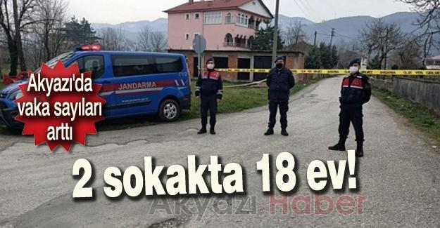 2 sokakta 18 ev karantinaya alındı!