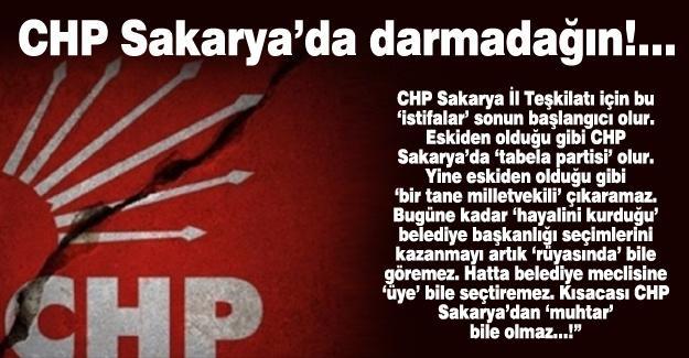 CHP Sakarya'da darmadağın!…