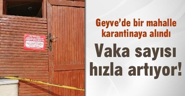 Geyve'de bir mahalle karantinaya alındı!