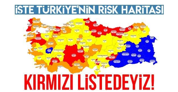 İşte Türkiye'nin risk haritası
