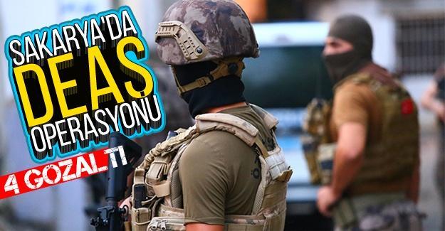 Sakarya'da DEAŞ operasyonu: 4 gözaltı