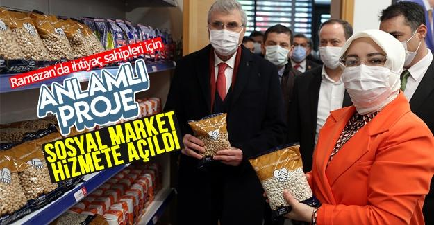 Sosyal Market hizmete açıldı