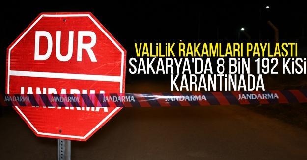 Sakarya'da 8 bin 192 kişi karantinada
