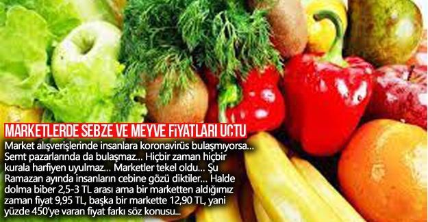 Marketlerde sebze ve meyve fiyatları uçtu